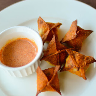 Baked Cream Cheese Wonton with Jalapeno & Dried Shrimp