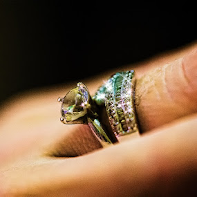 Diamond Ring by JNJ PhotoStream - Artistic Objects Jewelry ( hand, ring, macro, diamond, canon eos-1d x, jewelry )