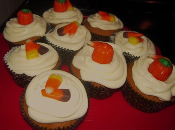 Decorate with candy pumpkins, candy corn, Halloween Peeps, pumpkin spice or caramel topping.