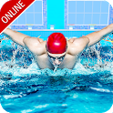 Swimming Contest Online : Water Marathon Race icon
