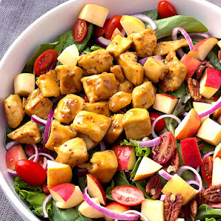 Honey Mustard Chicken Salad with Homemade Honey Mustard Dressing