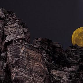 Evening Moon by Greg Harcharik - Landscapes Mountains & Hills ( . )