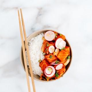 Kimchi Salmon Poke.