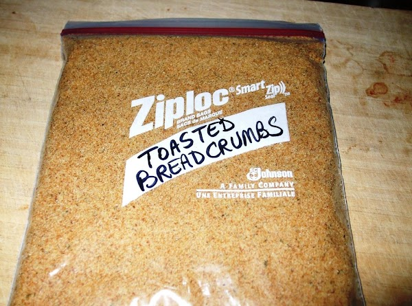 *Note: Toasting the breadcrumbs is an important step and will keep the mixture from...