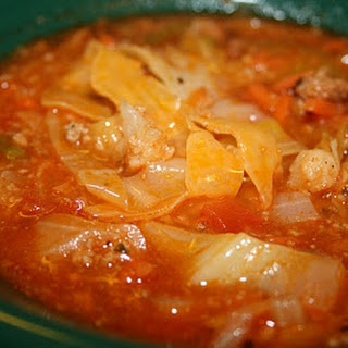 Diet Cabbage Soup with Turkey