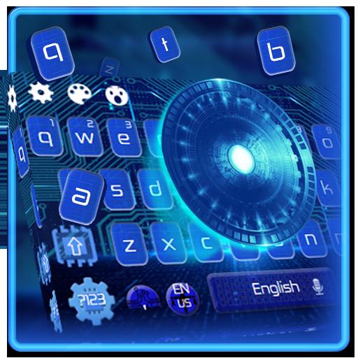 Blue Tech Keyboard Theme