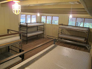 Photo: Omikse Cabin Interior Each cabin has 4 bunks and one single bed