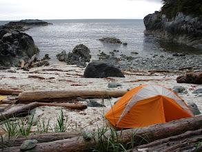 Photo: My campsite west of Cape Fox looking out across Dixon Entrance.