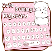 Cute Pink Bunny Keyboard Theme Android APK Download Free By Penmouse Design Technologies