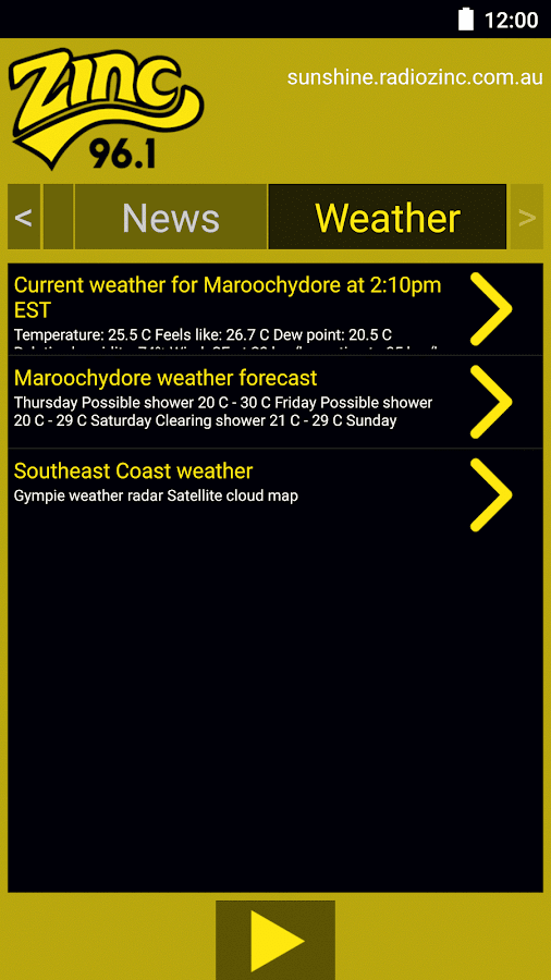 Zinc 96.1 Sunshine Coast- screenshot