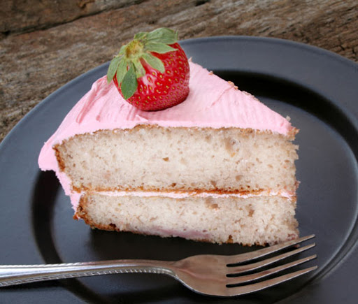 Amy's Simply Delicious Yellow Cake with Pink Buttercream Frosting