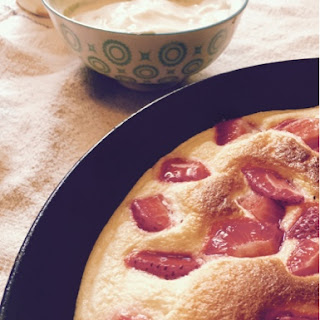 Strawberry and Vanilla Soufflé Omelette.
