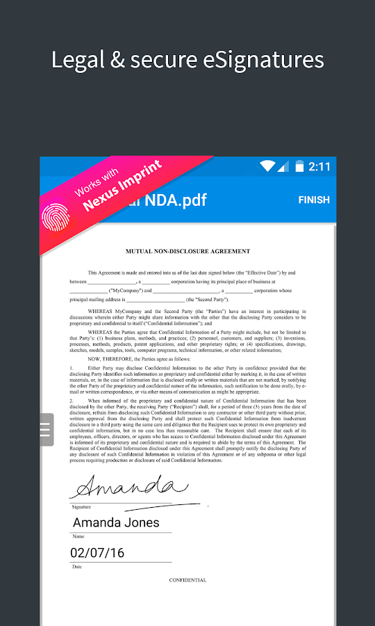 SignEasy | Sign and Fill PDF and other Documents- screenshot