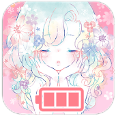 Battery Widget Flowery Kiss