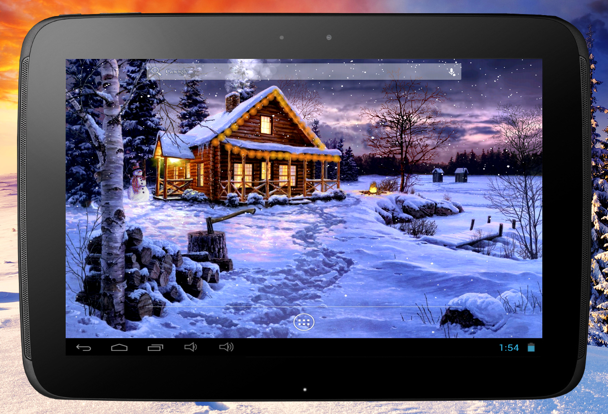 Falling Snow Live Wallpaper Tutorial Winter Holiday Live Wallpaper Android Apps On Google Play