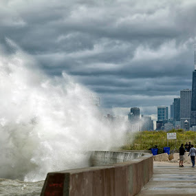 October Waves  by John CHIMON - Landscapes Weather ( pwcstorm )