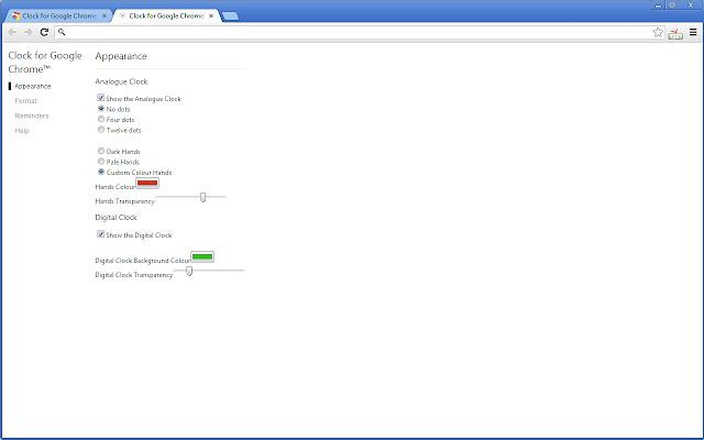 Clock for Google Chrome™