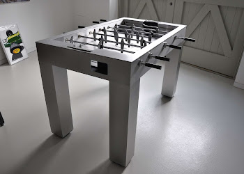 The Kicker Foosball Table Top View