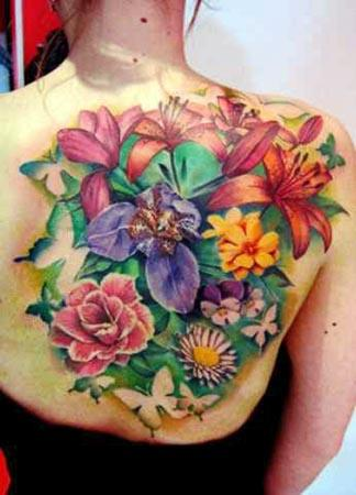 花纹身设计