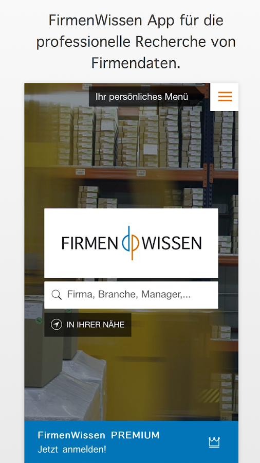 FirmenWissen – Screenshot