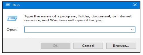 Open Run Dialog Box in Windows 10 / 8 / 7