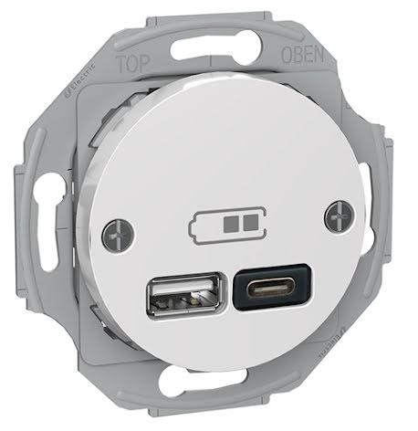 Renova USB Typ A+C Laddstation
