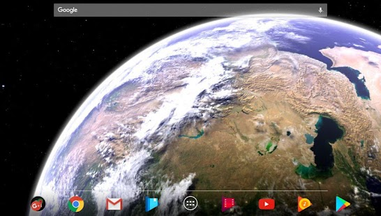 Earth & Moon in HD Gyro 3D Parallax Live Wallpaper Screenshot