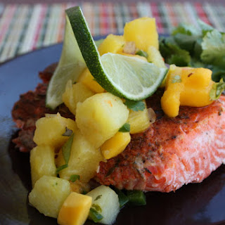 Blackened Salmon With Pineapple Mango Salsa