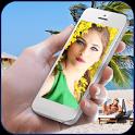 Selfie photo frame icon