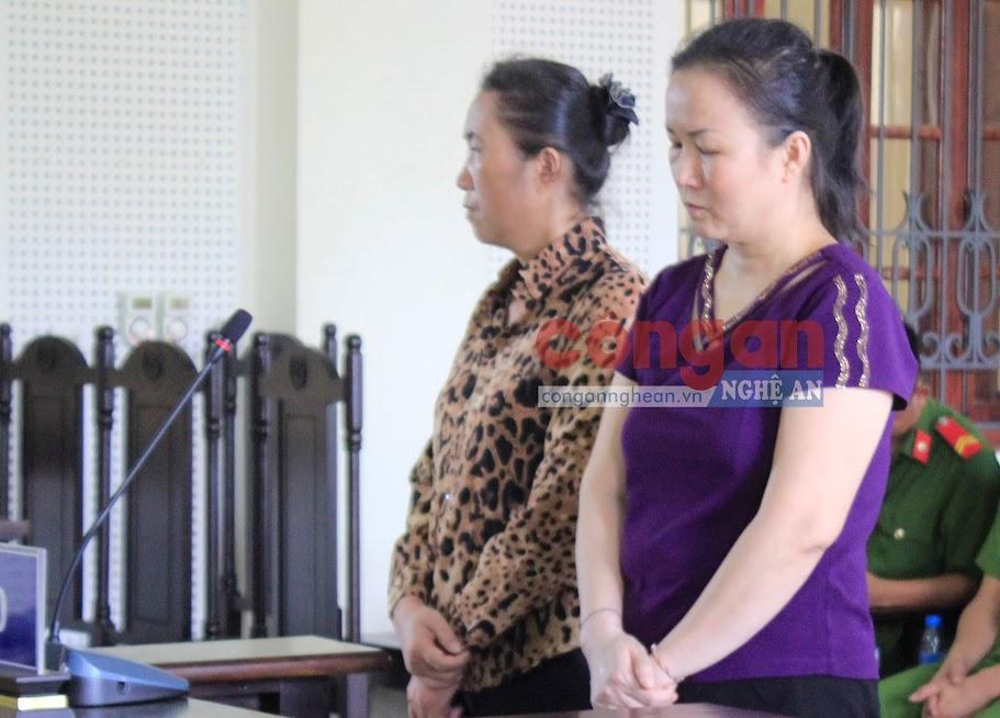 2 bị cáo Lô Thị Thường và Lô Thị Vân