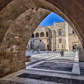 Palace of the Grand Knight of Rhodes by Angela Higgins - Buildings & Architecture Public & Historical