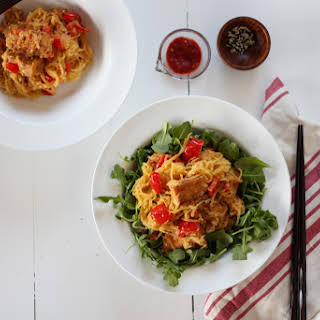 Spicy Peanut Tofu and Spaghetti Squash.