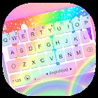 Rainbow Drops words Tema de teclado icon