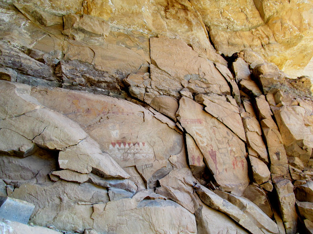 A remarkable, large pictograph panel