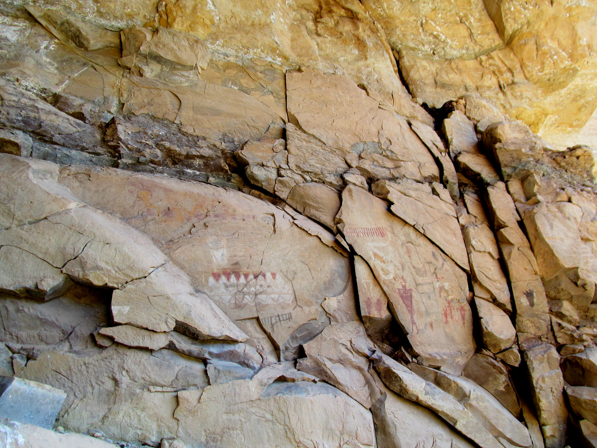 Photo: A remarkable, large pictograph panel