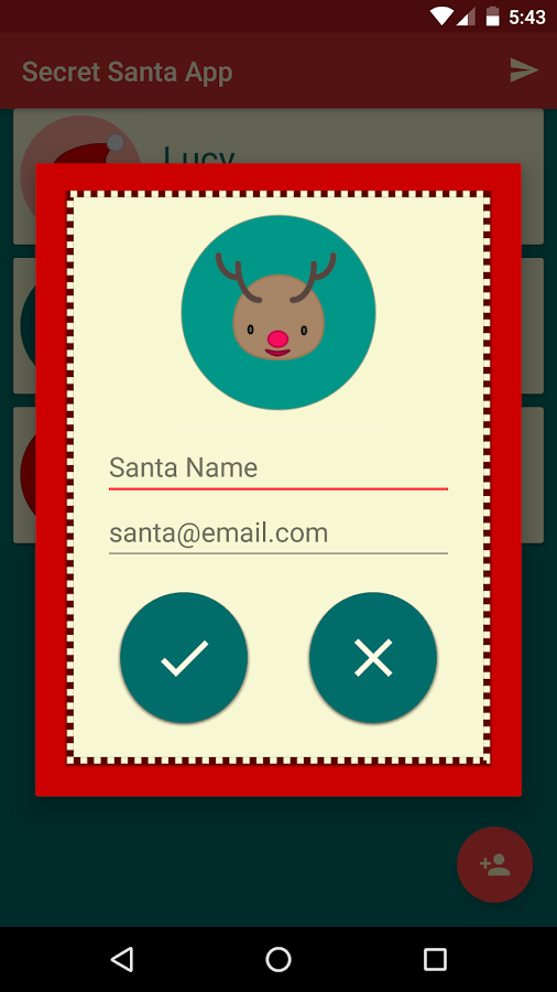 Secret Santa App- screenshot