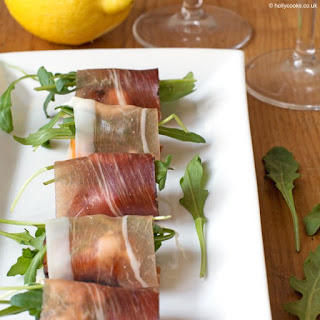 Prosciutto, Goats Cheese And Rocket Canapé