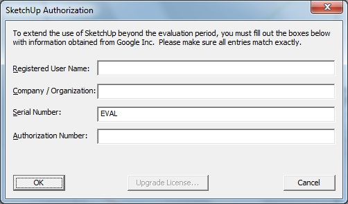 serial number and authorization code for google sketchup pro 8