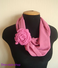 Photo: шифоновый шарф-снуд и валяная войлочная роза