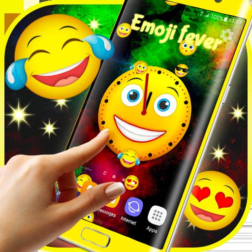 Emoji Clock Live Wallpaper Free