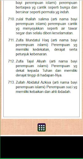 artinya islam anak dan Nama perempuan