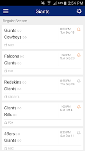 Football Schedule for Giants screenshot 2
