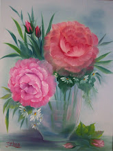 Photo: 11. Pink Roses in Glass. 18 x 24 oil on canvas. $249.00