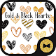 Download Cute Wallpaper Gold & Black Hearts Theme For PC Windows and Mac
