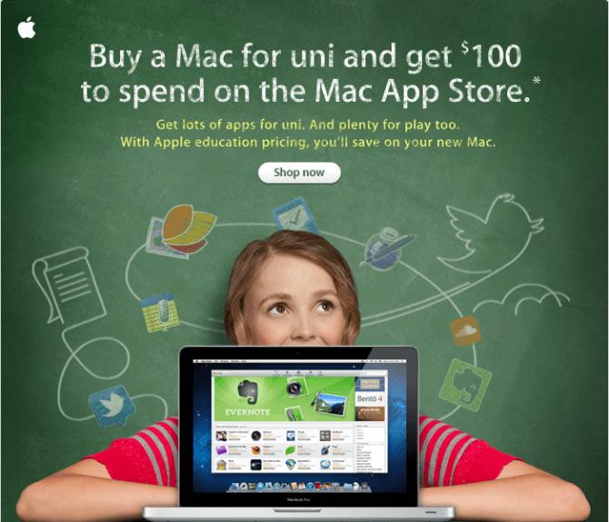 Apple rebate promotion strategy