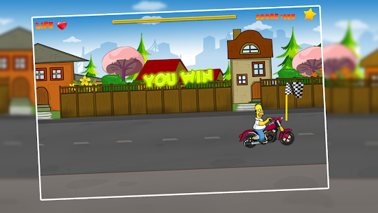 Homers Extreme Speed Car Race - náhled