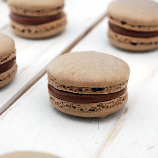 Chocolate & Nutella Macarons