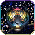 Colorful Neon Tiger Keyboard Theme icon