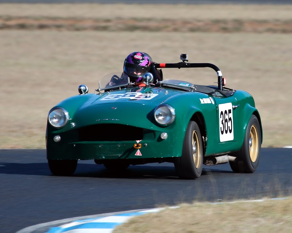 Bob Rees in his 1960 Turner Sports car, competing in the Gunnedah Hill Climb at the Gunnedah Weeks of Speed.