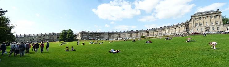 "Photo: Bath: Royal Crescent ""königlicher Halbmond"""